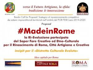 le slide della Proposal #MadeinRome