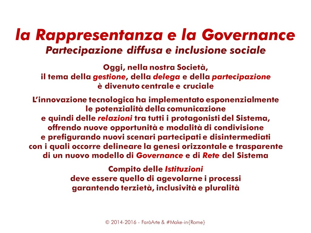 Project & Governance System per il MiR