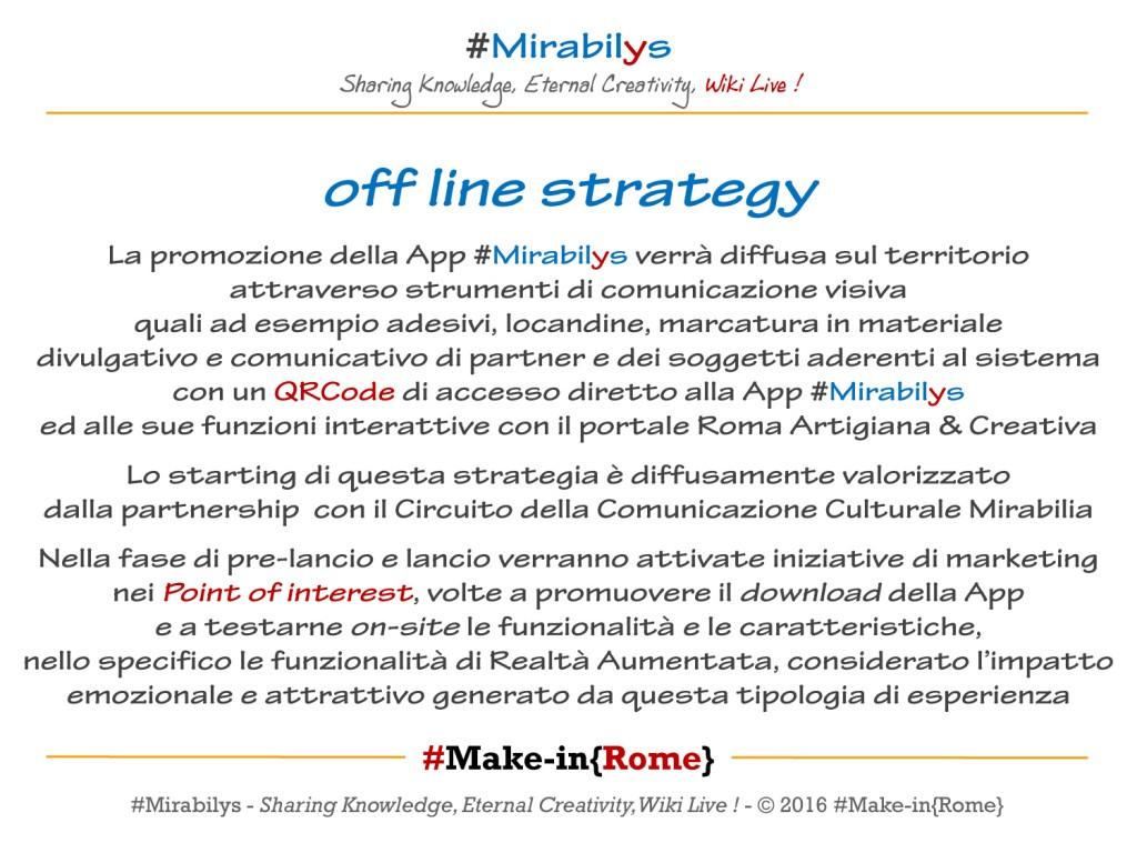 Circuito Comunicativo : Progetto wiki app #mirabilys u2013 make in{rome}